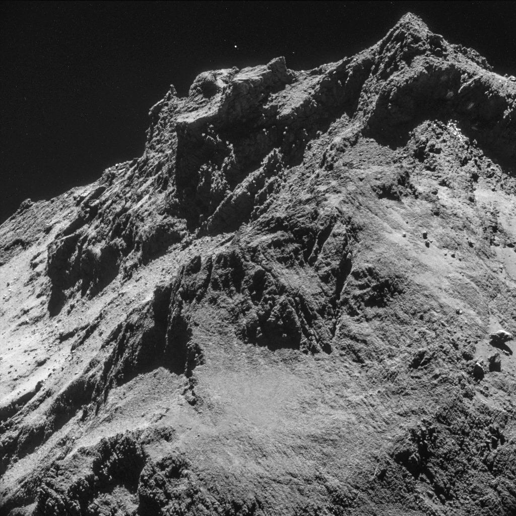 Rosetta-Navcam-Aufnahme von 67P (ESA/Rosetta/NAVCAM, CC BY-SA 3.0 IGO)
